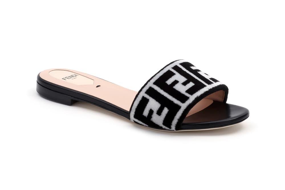 Fendi FF Logo Capsule Collection Slipper White Black