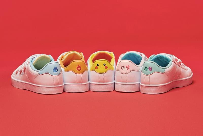 fila korea pokemon fila court deluxe low top velcro pikachu
