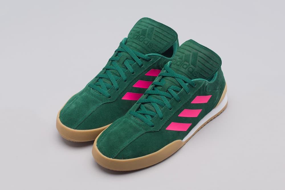 gosha rubchinskiy adidas copa trainers green pink gum white