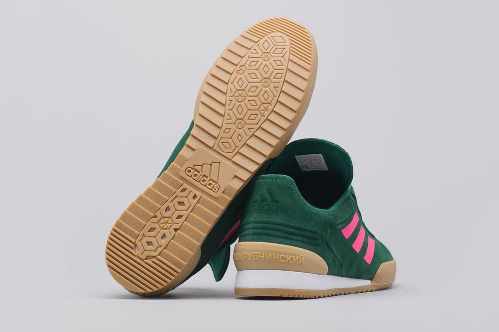 gosha rubchinskiy adidas copa trainers green pink gum white back bottom sole