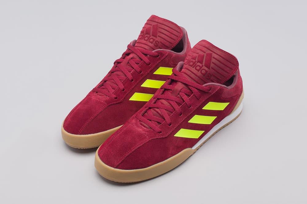 gosha rubchinskiy adidas copa trainers red neon yellow gum white
