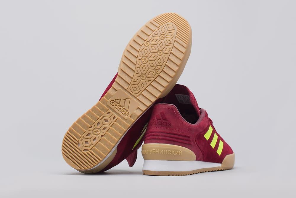 gosha rubchinskiy adidas copa trainers red neon yellow gum white back bottom sole