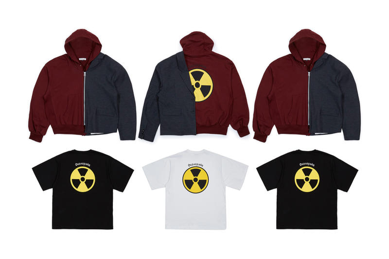 gosha rubchinskiy dsmny dsm dover street market ss18 bombers jackets tees tshirts radioactive blazer