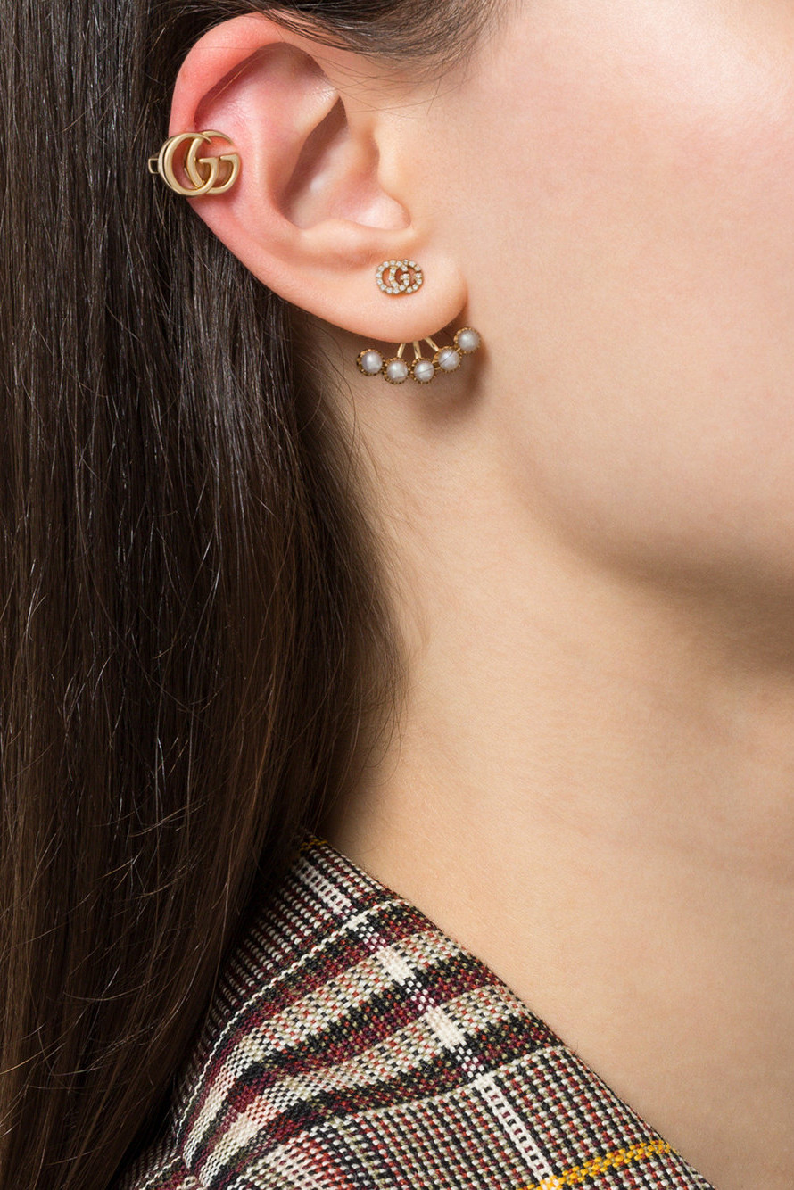 Gucci Releases Double G Clip,On Earring in Gold