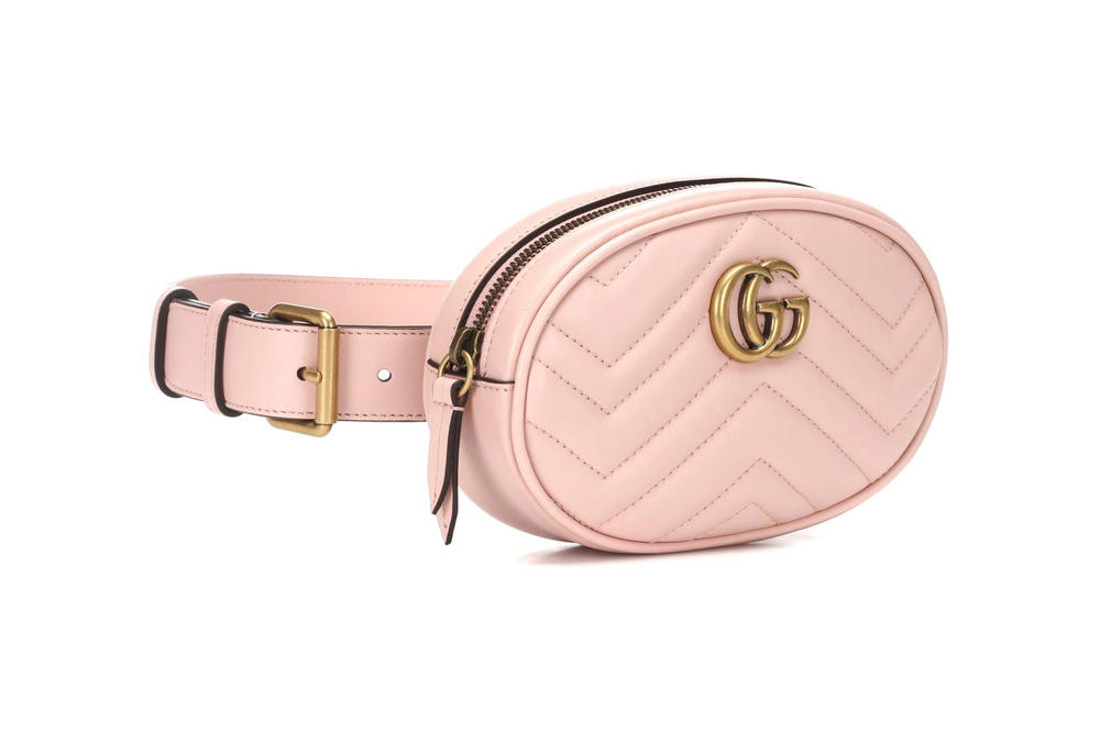 Gucci GG Marmont Leather Belt Bag Perfect Pink