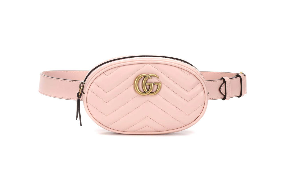 7dbca05bce4 Gucci GG Marmont Leather Belt Bag Perfect Pink