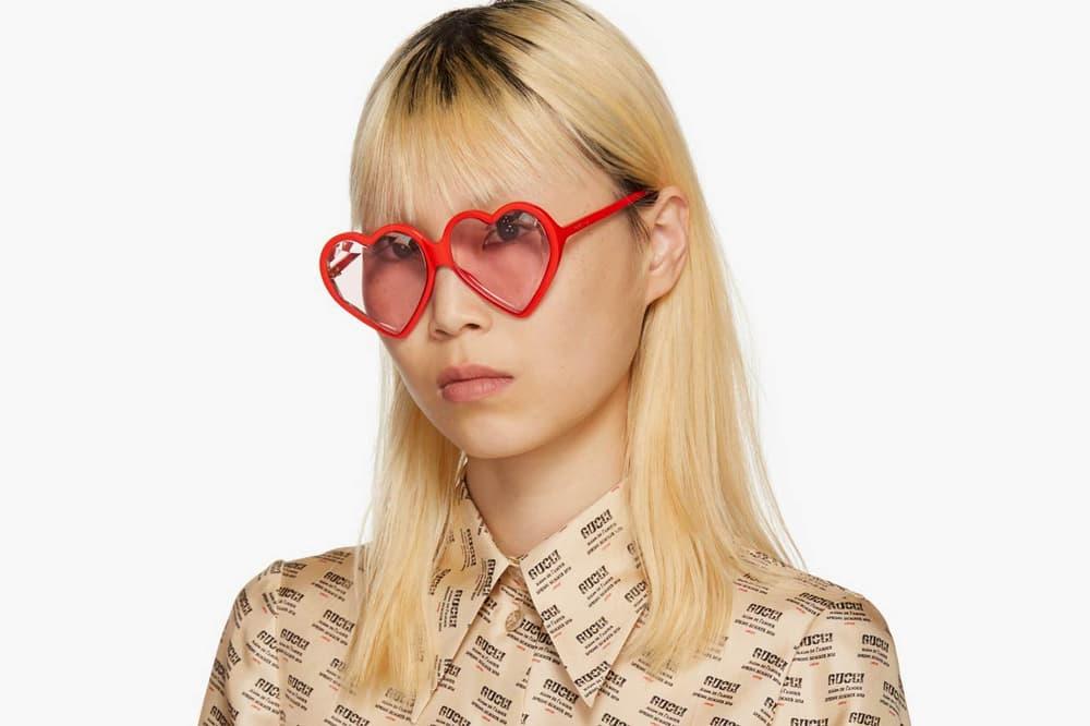 c8688a9ef3e Buy Gucci s Heart Sunglasses in Red