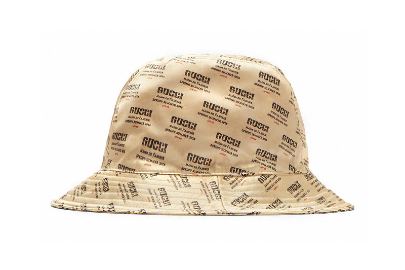 Gucci Invite Print Bucket Hat Beige