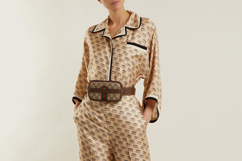 0a45b95fcce Gucci Releases Two-Piece Beige Silk Pyjama Set