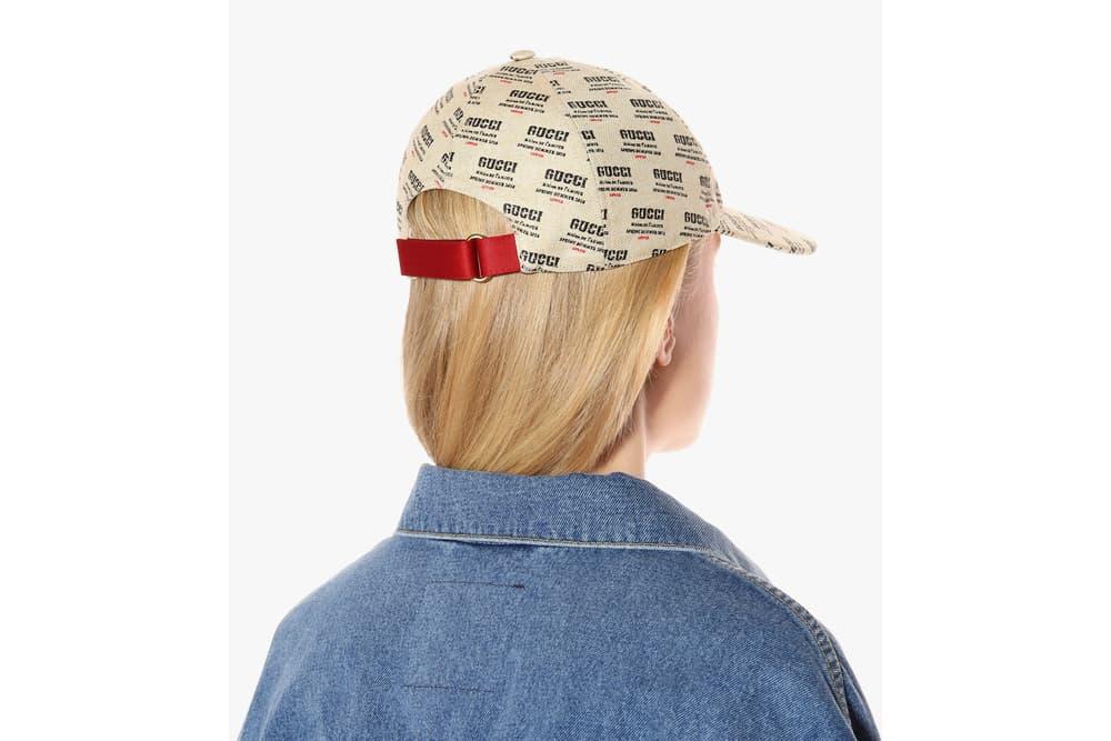 Gucci Spring/Summer 2018 Logo Print Baseball Cap Beige Red Black Logomania Statement Hat Luxury Cap