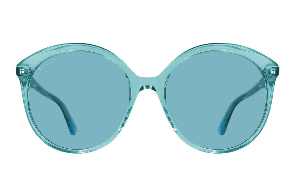 Gucci Monocolor Translucent Retro Sunglasses Vibrant '80s Pink Blue Oversized Where to Buy