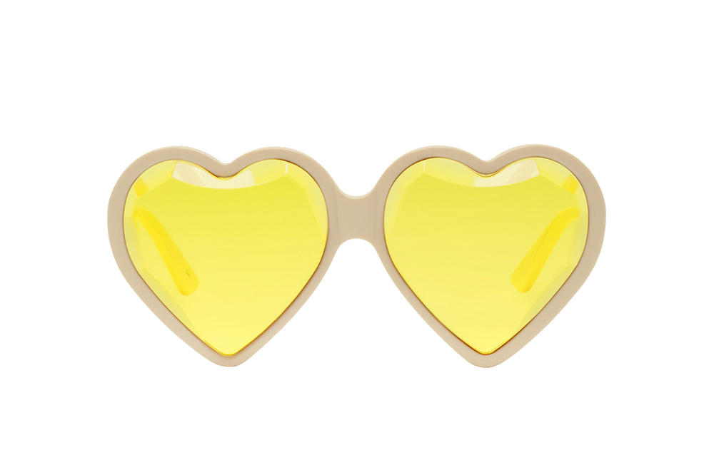 fadd1cc8d0 Gucci Yellow Heart-Shaped Sunglasses Alessandro Michele Shades Eyewear  Accessories