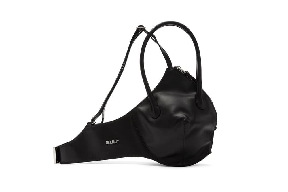 Helmut Lang Shayne Oliver Black Leather Bra Bag Runway Spring Summer 2018