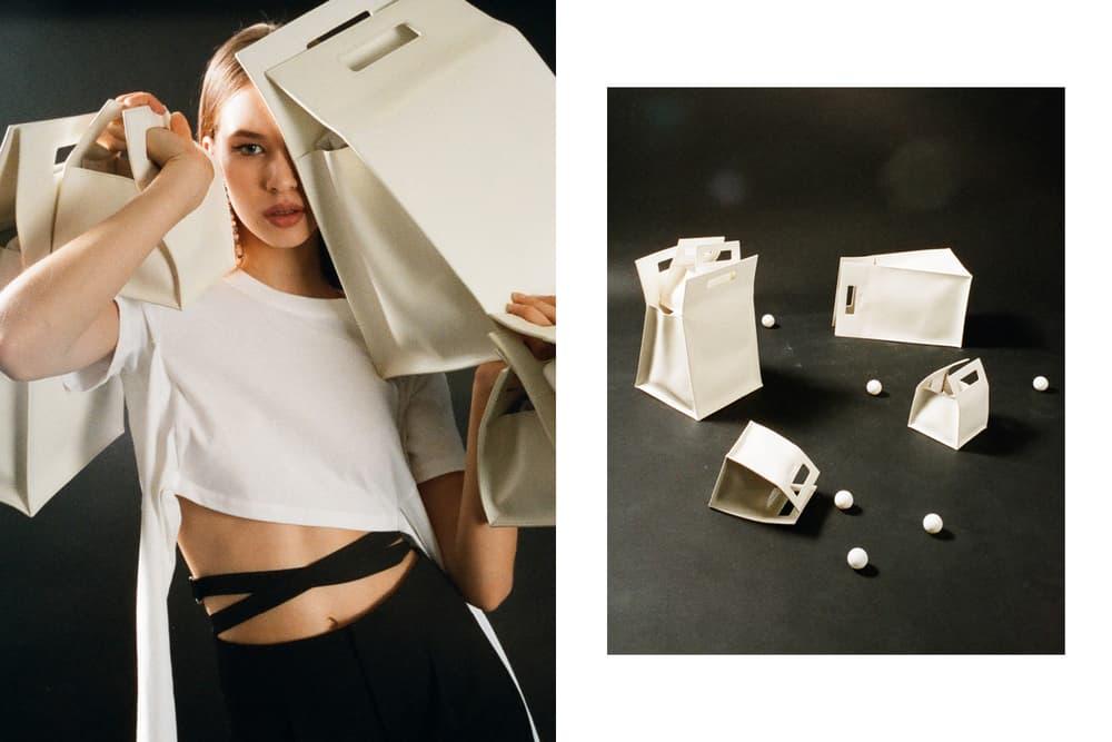 Helmut Lang Spring Summer 2018 HBX Editorial White Shopping Bag