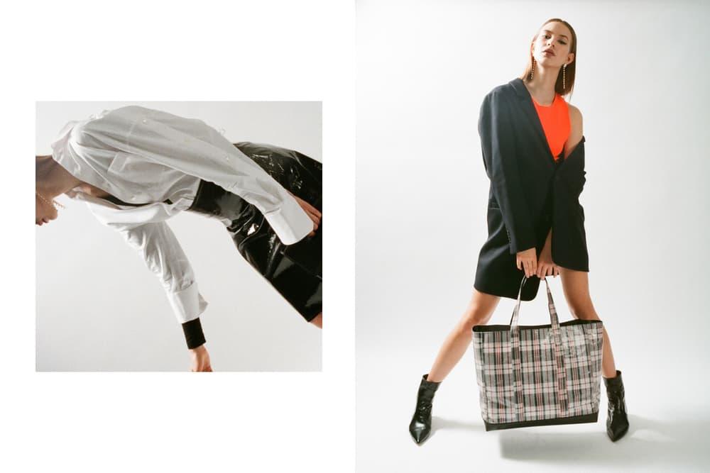 Helmut Lang Spring Summer 2018 HBX Editorial Bag Handbag Plaid