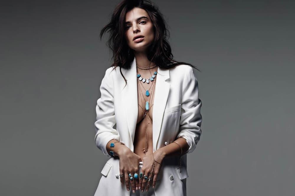 Emily Ratajkowski White Suit
