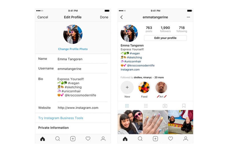 Instagram New Hashtags and Links in Bio Feature Description Biography Social Media