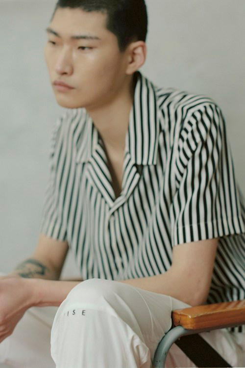 IISE Spring/Summer 2018 Collection Lookbook Collared Shirt Pants Green White