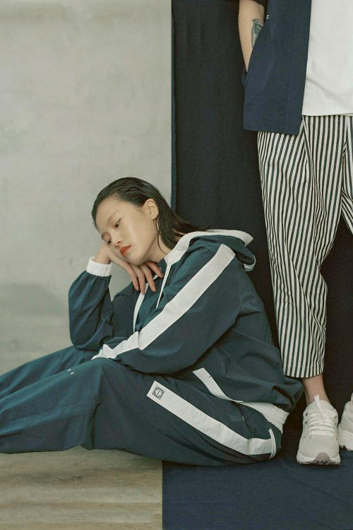 IISE Spring/Summer 2018 Collection Lookbook Track Jacket Pants Green White