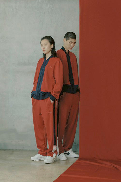 IISE Spring/Summer 2018 Collection Lookbook Track Bomber Jacket Pants Burgundy
