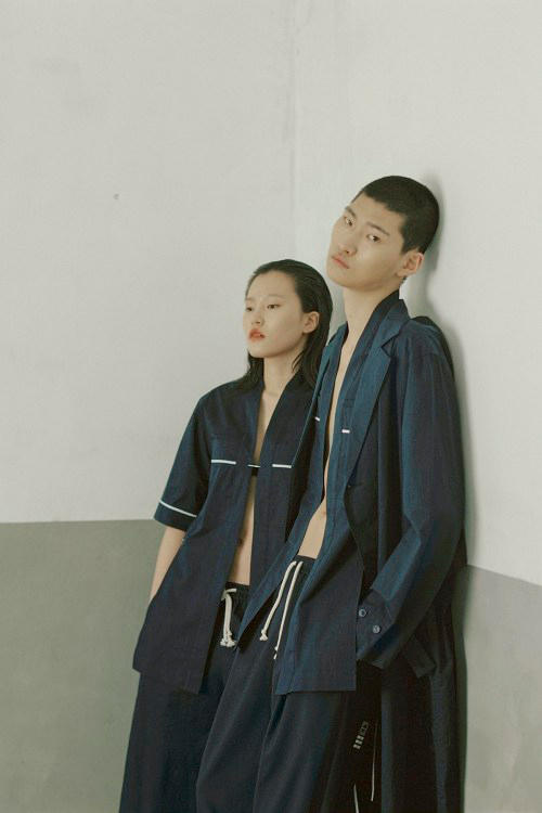 IISE Spring/Summer 2018 Collection Lookbook Collared Shirt Pants Navy Blue Green