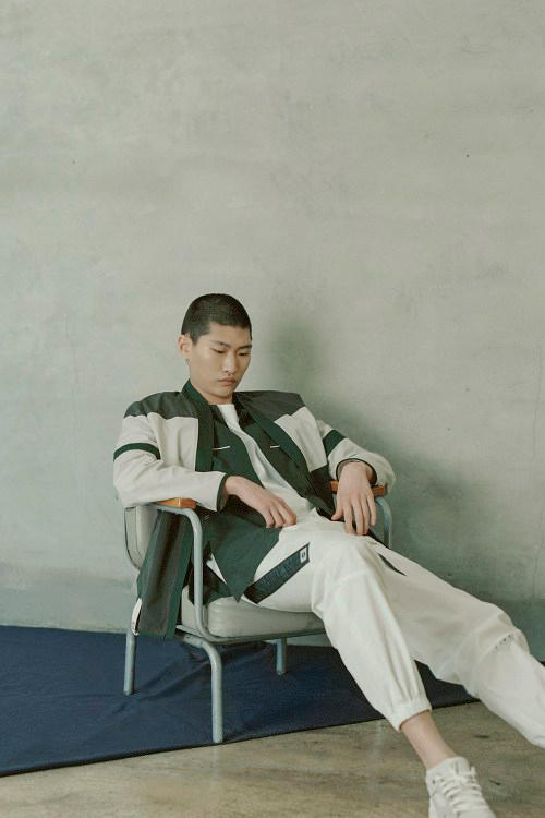 IISE Spring/Summer 2018 Collection Lookbook Track Jacket Jogger Forest White