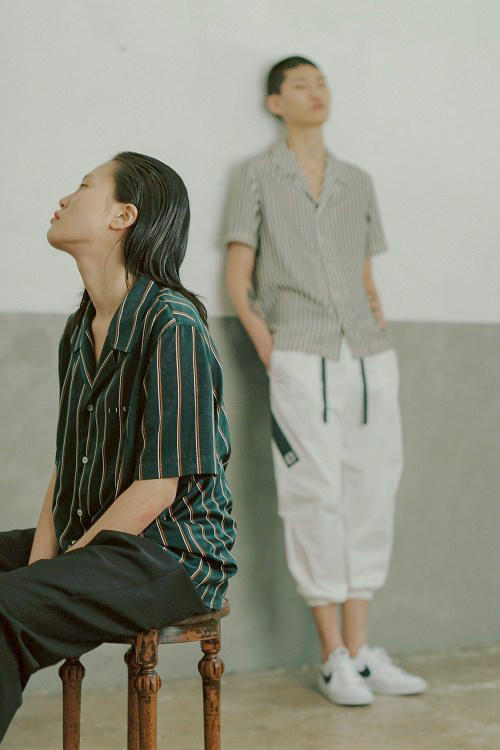 IISE Spring/Summer 2018 Collection Collared Shirt Lounge Pants Green