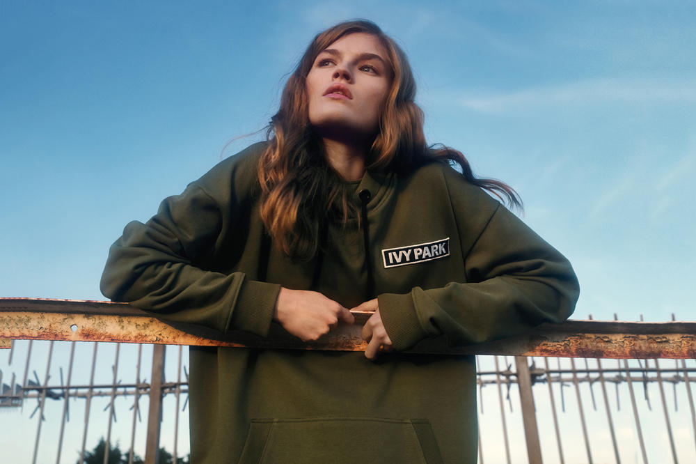 IVY PARK Spring/Summer 2018 Campaign Logo Hoodie Green
