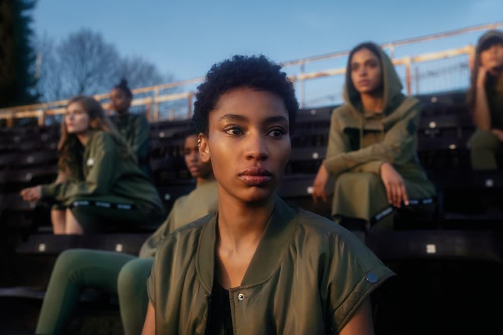 IVY PARK Spring/Summer 2018 Campaign Jacket Leggings Hoodie Green