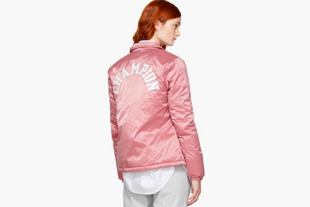 Champion Nylon Logo Jacket Pink