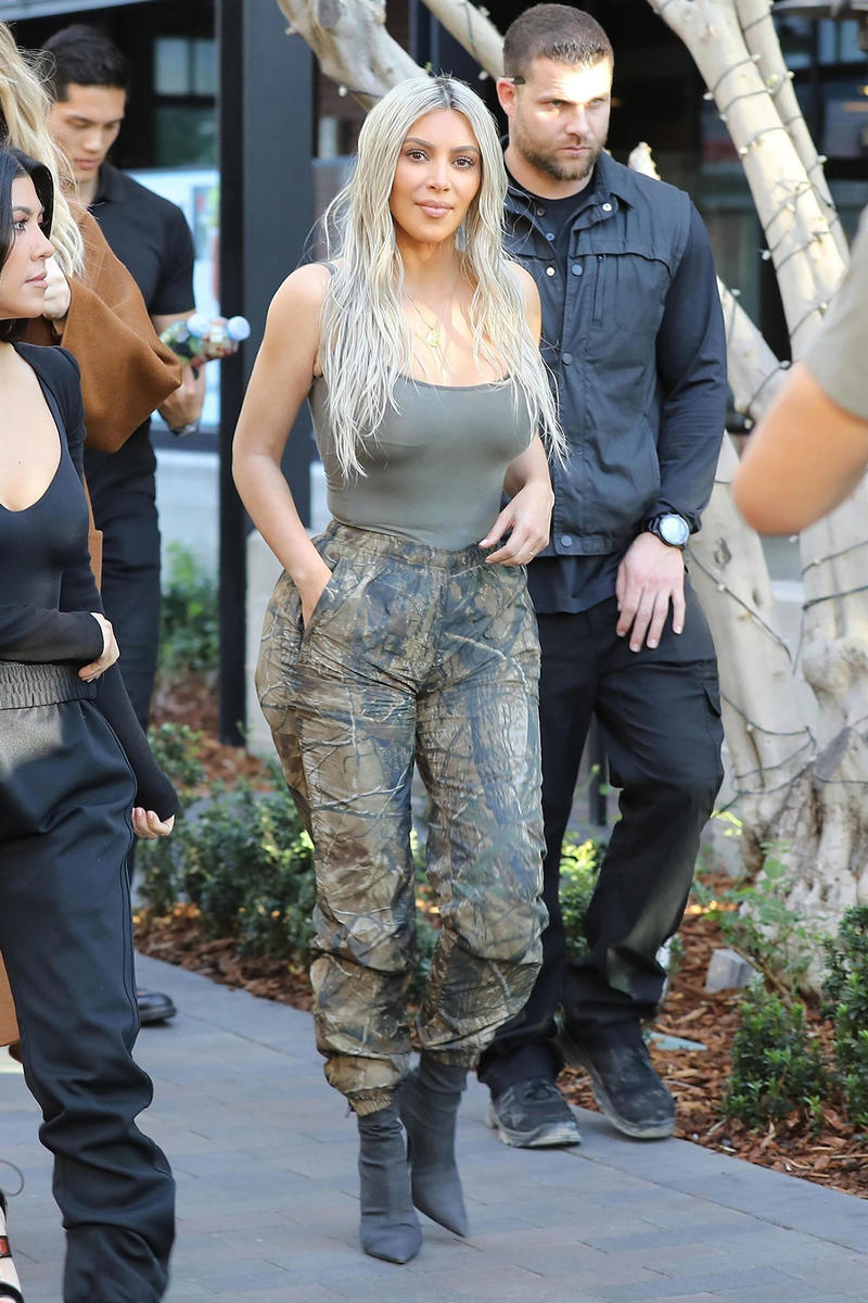 Kanye West YEEZY Season Sued Camouflage Patterns Kim Kardashian Camo Pants Jordan Outdoor Enterprises