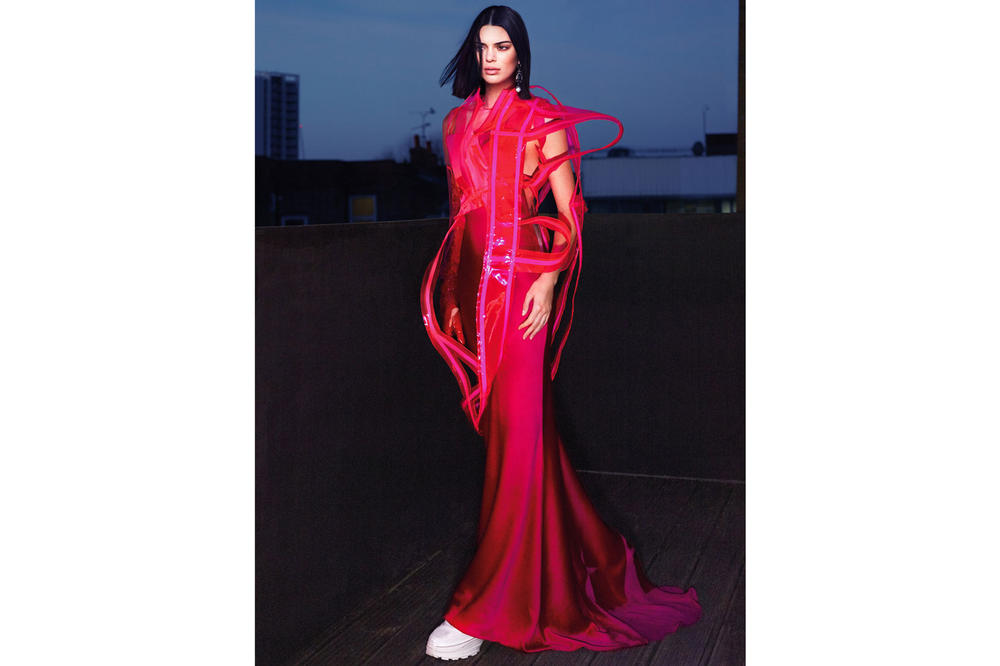 Kendall Jenner Vogue April 2018 Cover Maison Margiela Dress Sneakers