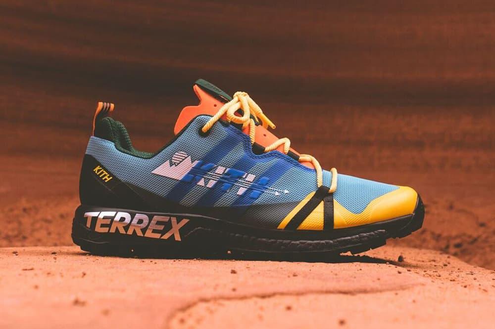 KITH x Terrex Agravic GTX Teal Yellow Orange Black