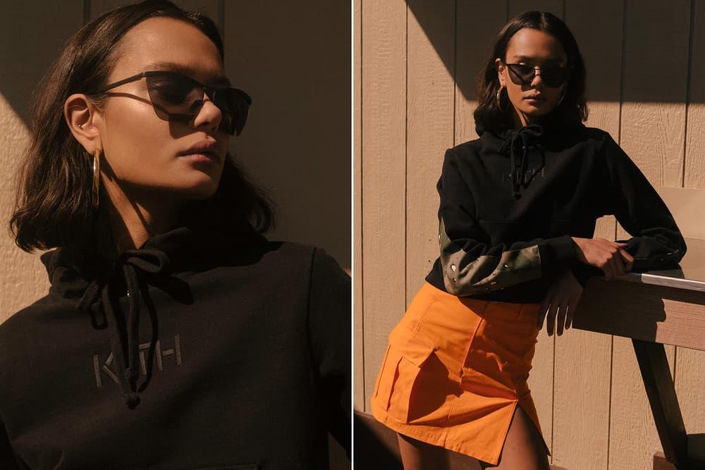 KITH Military Collection Lookbook Hoodie Jaclyn Skirt Black Orange