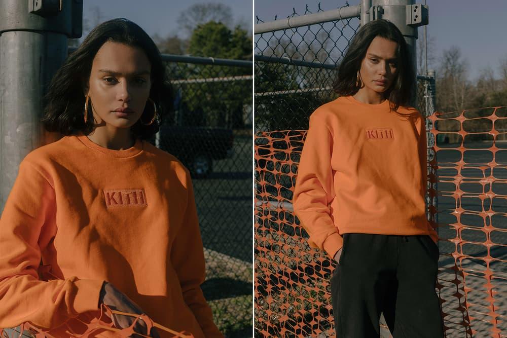 KITH Military Collection Lookbook Patch Sweatshirt Orange