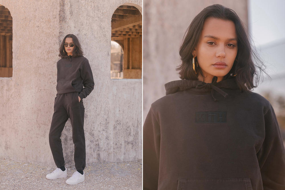 KITH Military Collection Lookbook Hailey Patch Hoodie Sweatpants Black