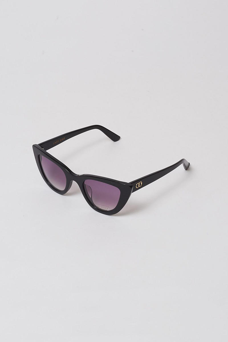 lazy oaf debut sunglasses collection london cat eye black