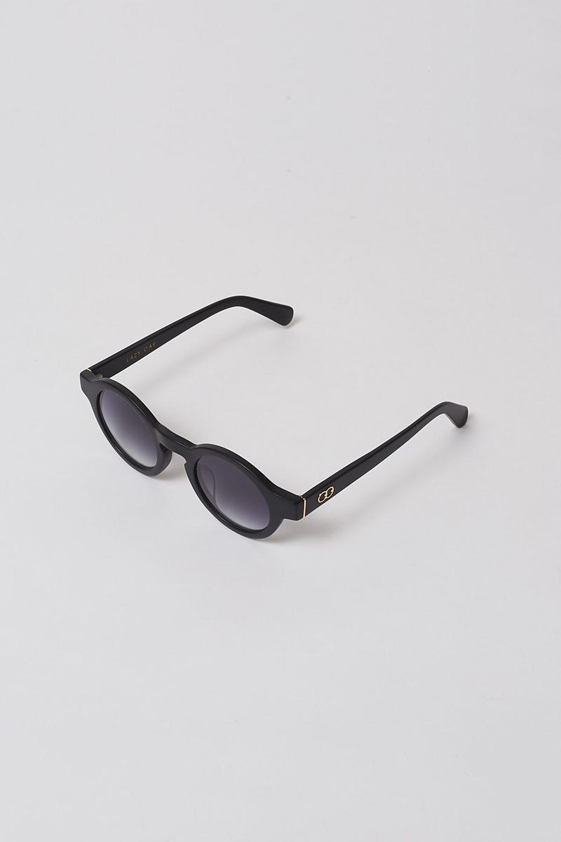 lazy oaf debut sunglasses collection london black round