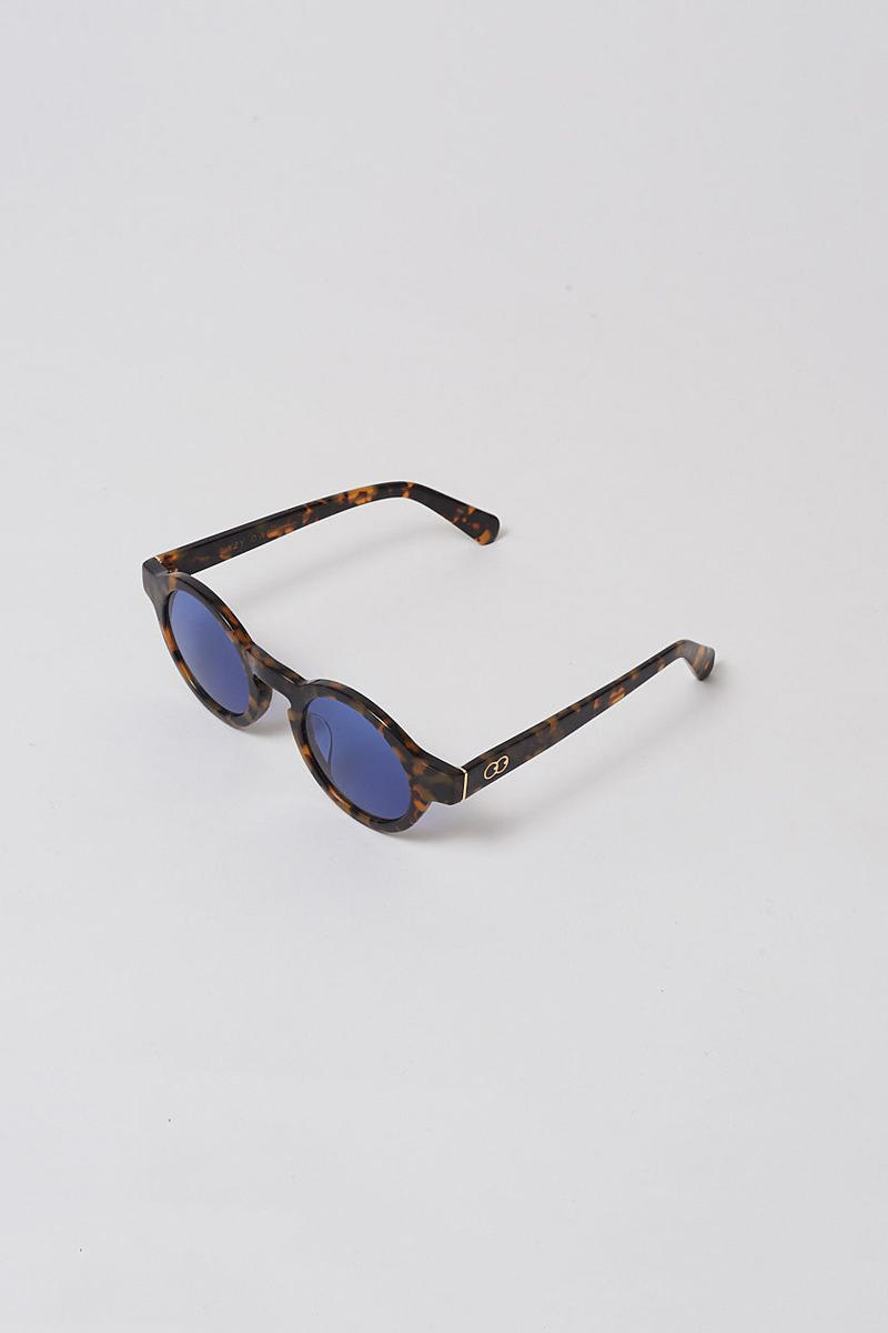 lazy oaf debut sunglasses collection london black round blue shade tint