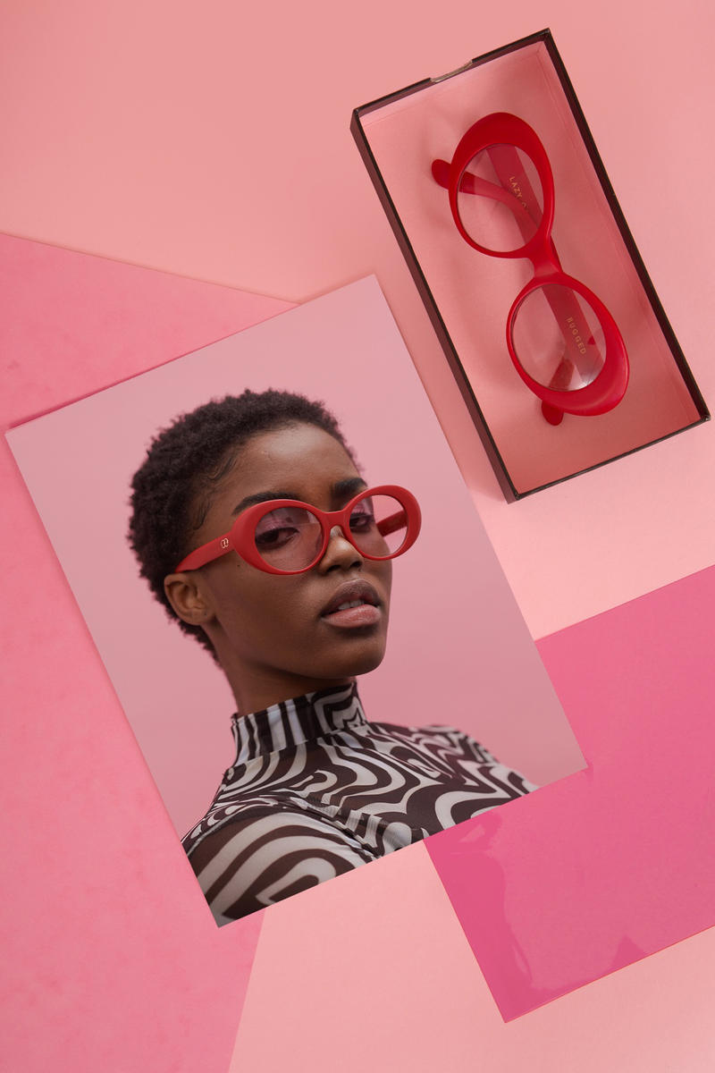 lazy oaf debut sunglasses collection london red oval