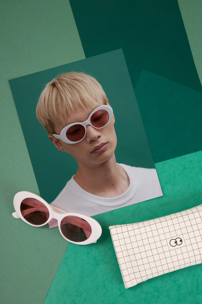 lazy oaf debut sunglasses collection london white oval