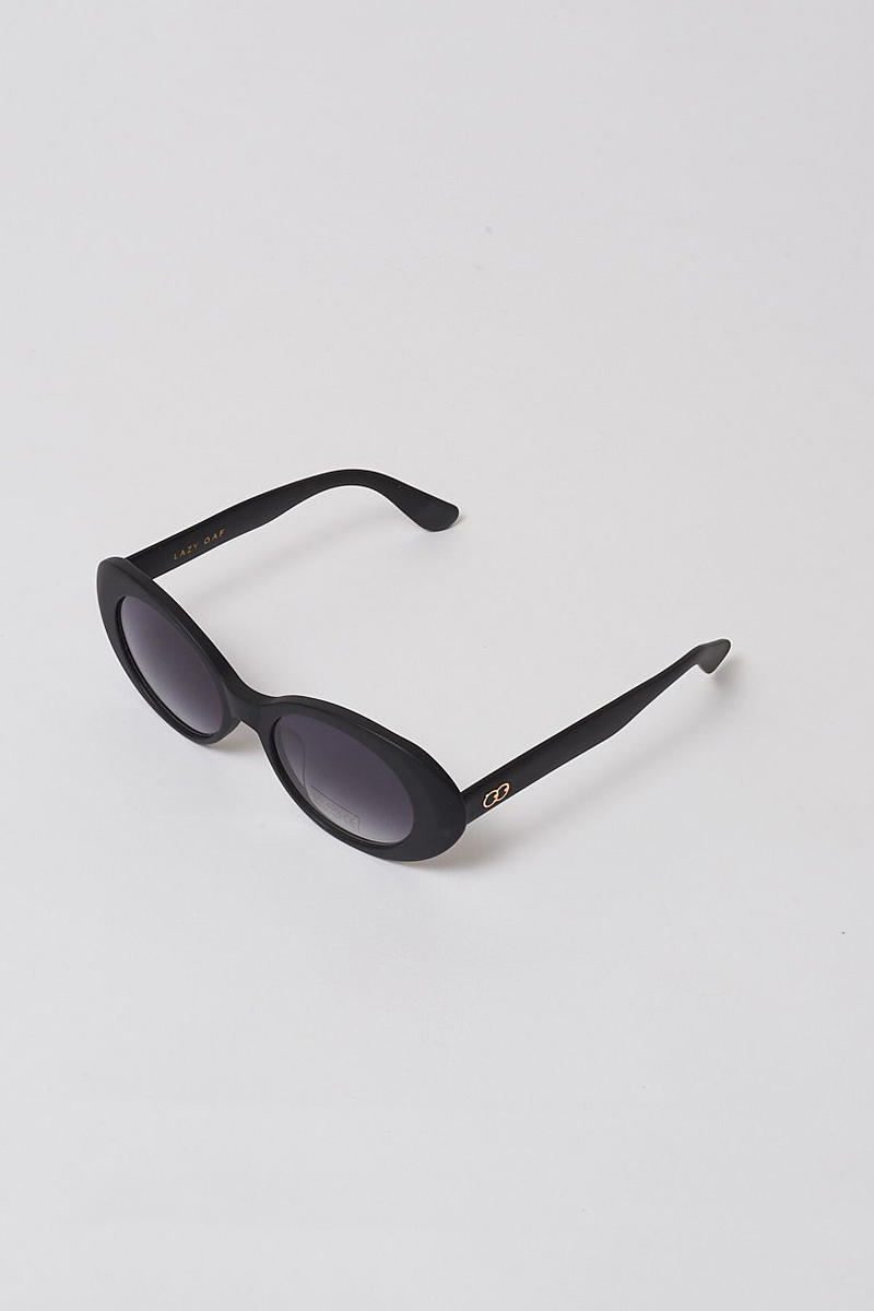 lazy oaf debut sunglasses collection london black oval shade