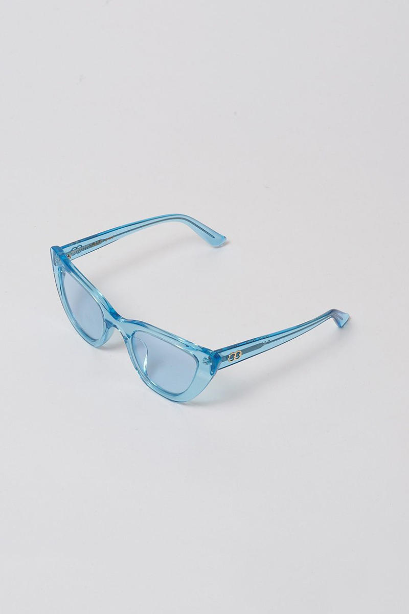 lazy oaf debut sunglasses collection london clear blue cat eye