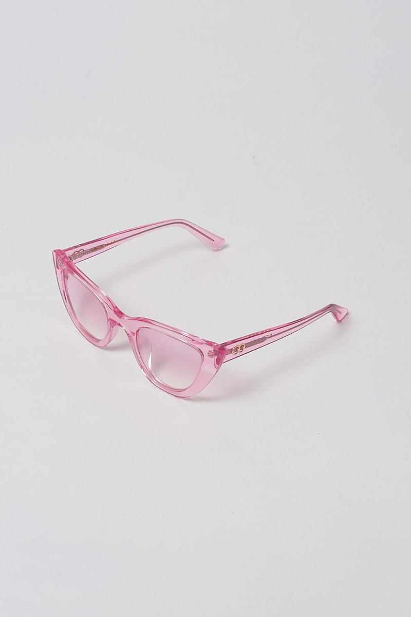 lazy oaf debut sunglasses collection london clear pink cat eye