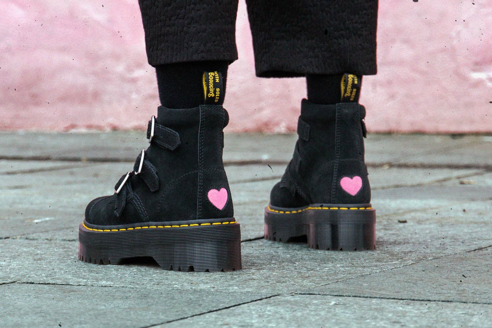 Lazy Oaf x Dr. Martens Suede Boots With