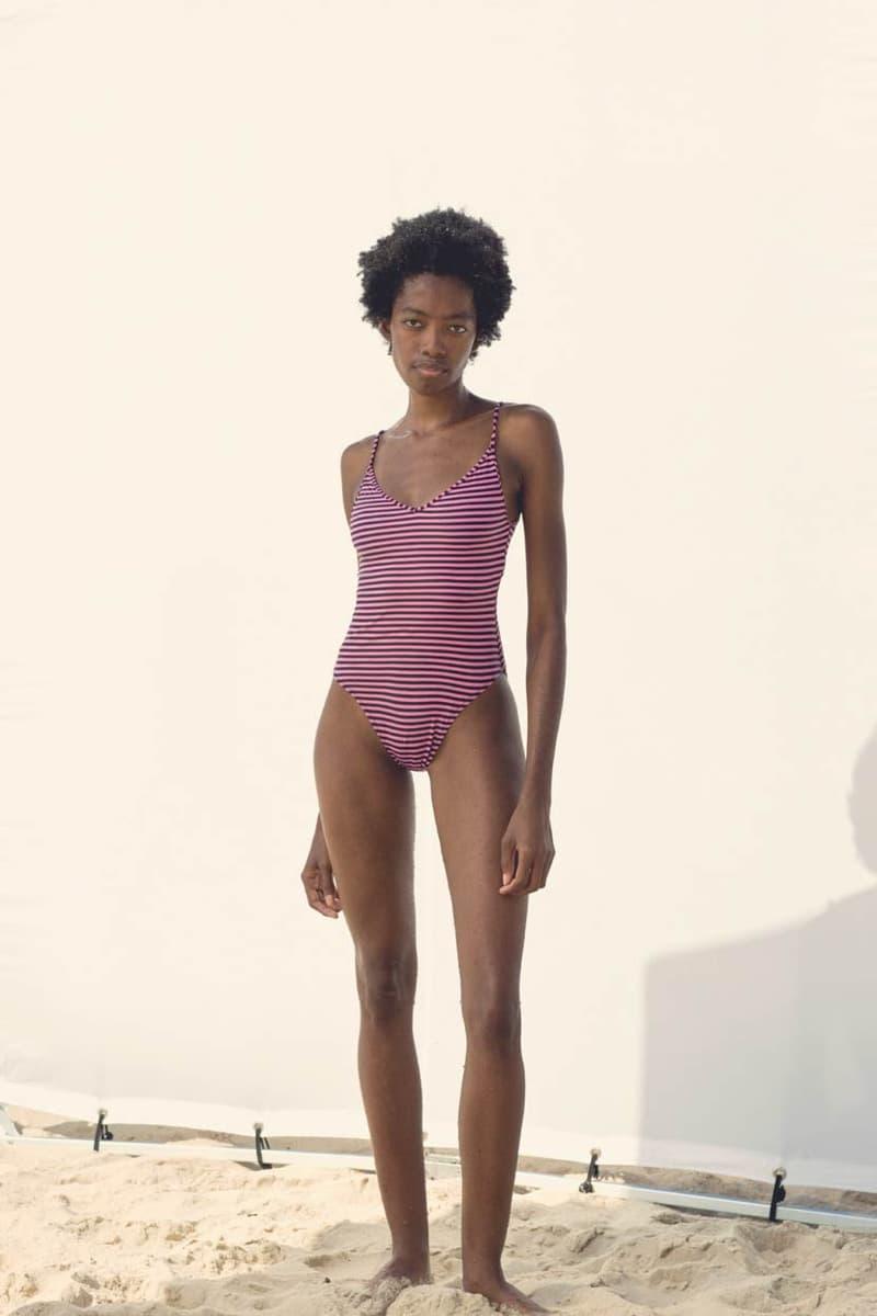 Les Girls Les Boys Swimwear Lookbook Stripe Swimsuit Pink