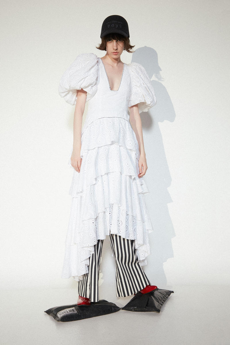 Aje Dress Marimekko Pants Stuart Weitzman Shoes Comme Des Garcons Hat White Striped Red Black