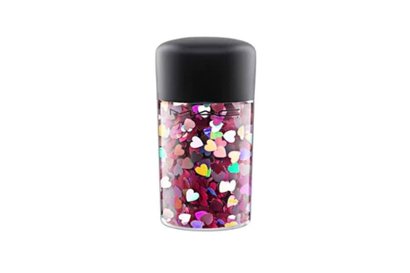 MAC Glitter Pigment Pink Hearts Silver Stars