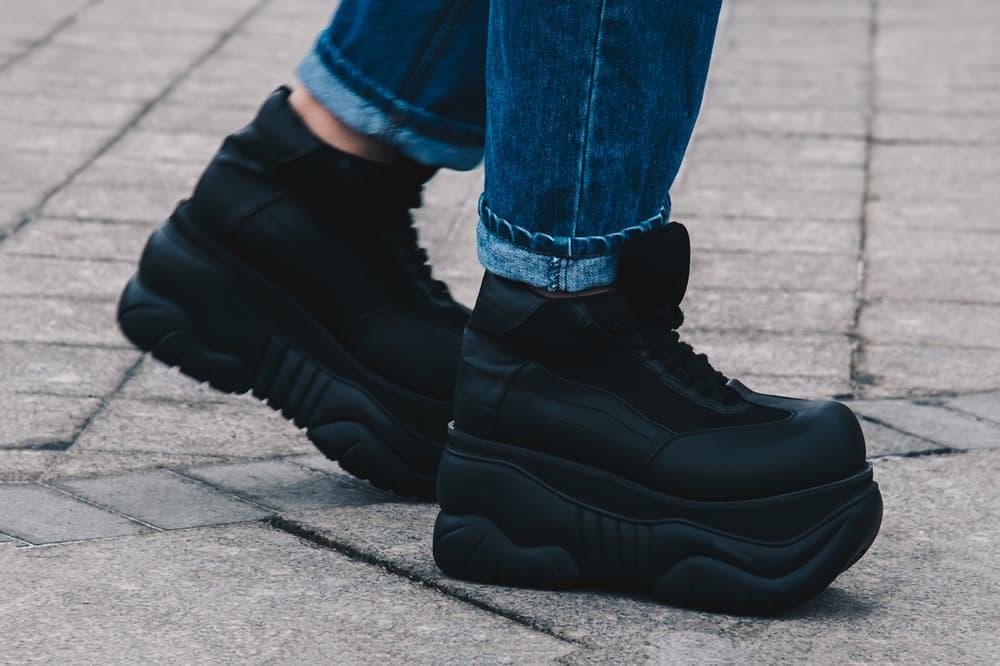 Streetsnaps Moscow Fashion Week 2018 Platform Sneakers Black