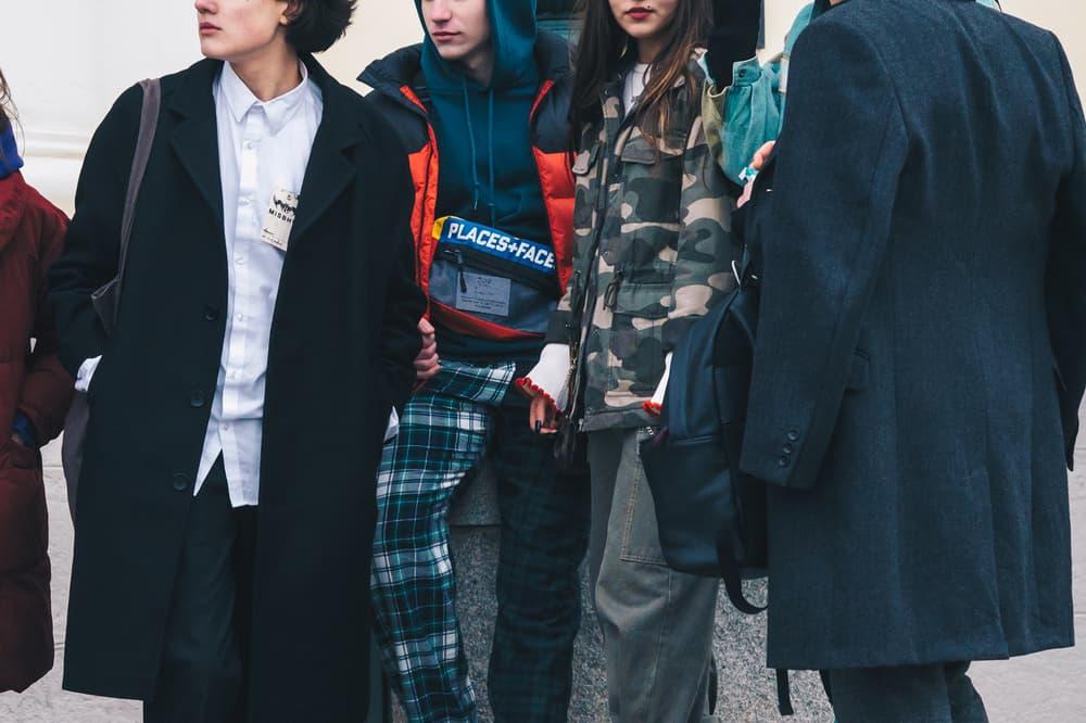 Streetsnaps Moscow Fashion Week 2018 Jackets Hoodies Blazer Black Camouflage Grey